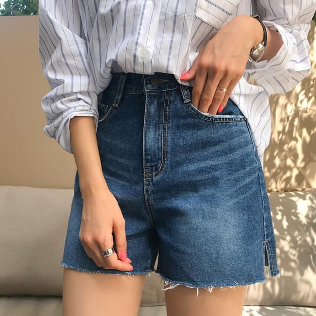 Pomb Denim Short Pants
