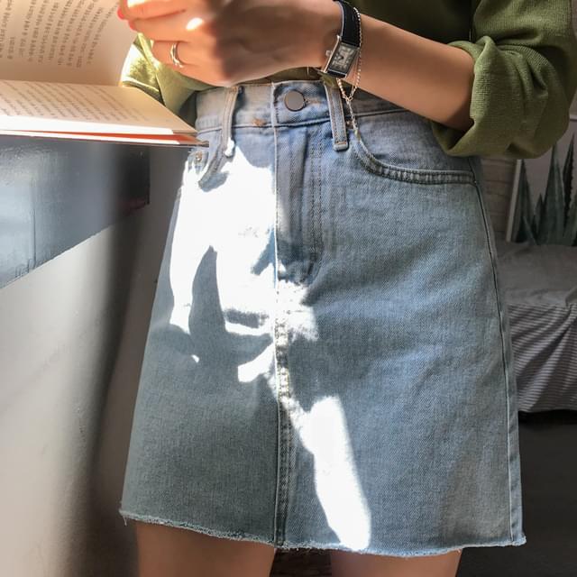 Dewey denim skirt
