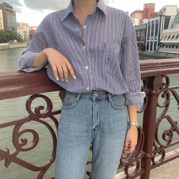 Cashmere striped shirt