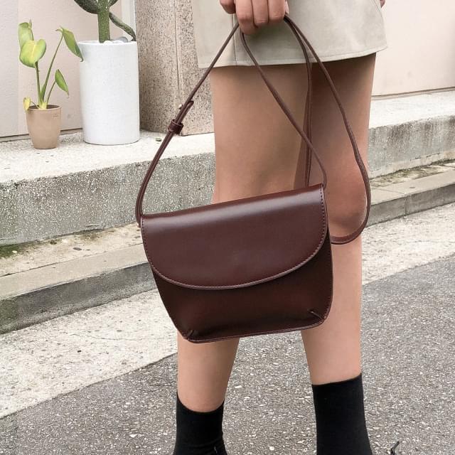glossy square cross bag ショルダーバッグ