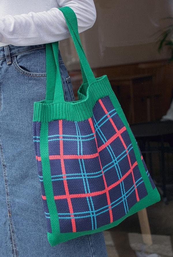 Check Knit Eco Bag