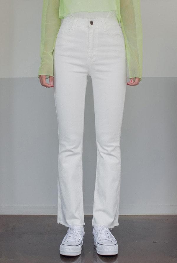 Basic cotton bootcut pants