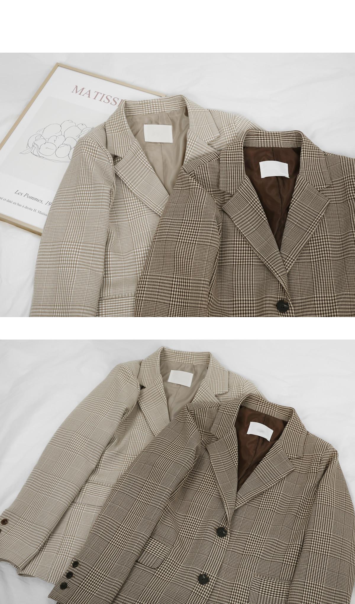 Vera check jacket