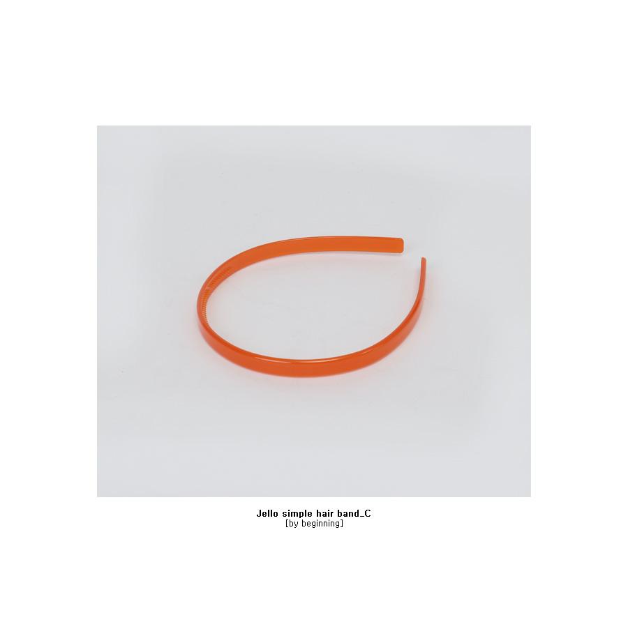 Jello simple hair band_C