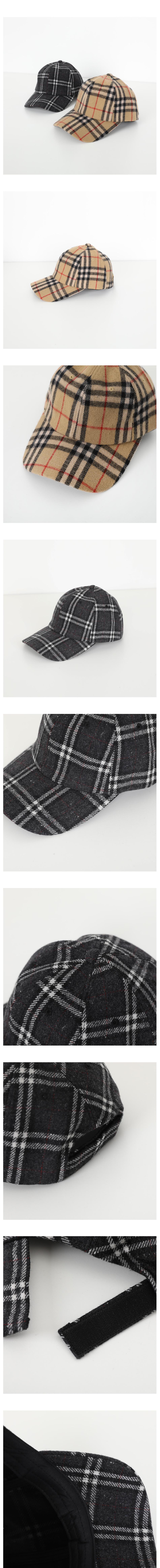 Burberry check cap hat