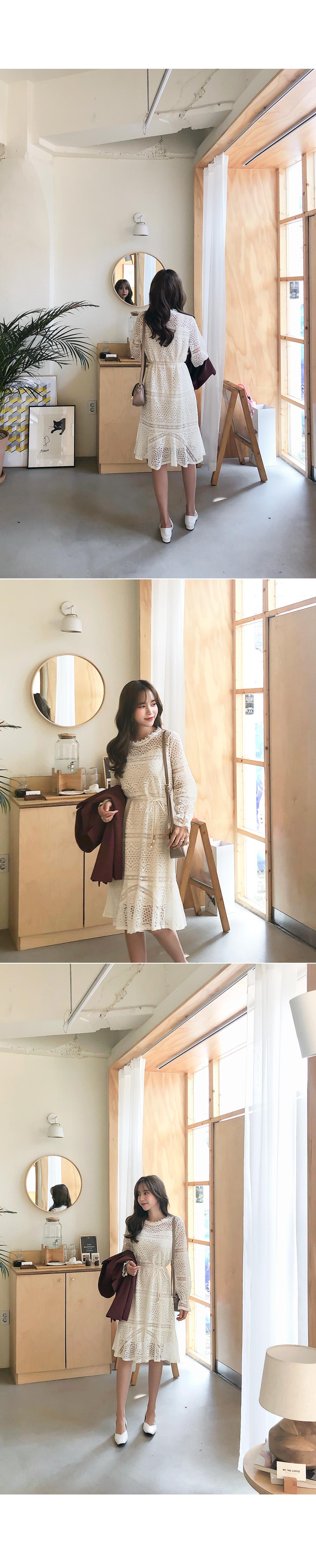 Romantic Flower Lace Dress