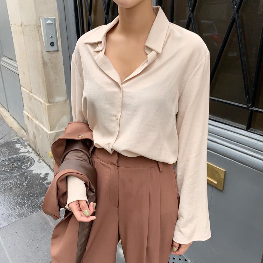 Sleeve button blouse