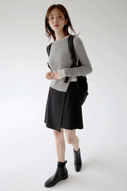 wrap unbalance point skirts (2colors)