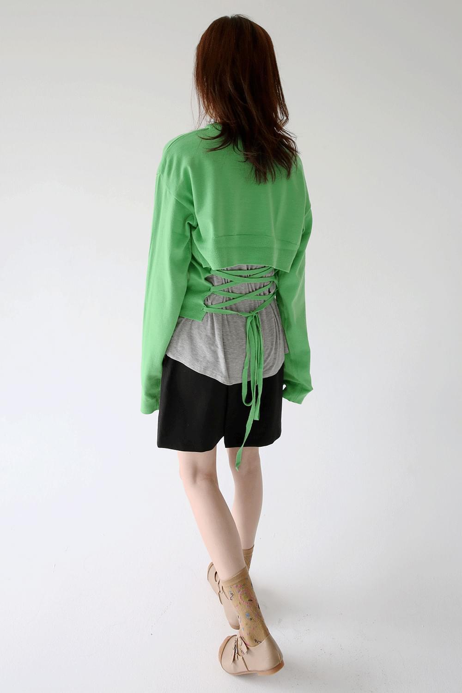 back line strap fornmig knit (3colors)