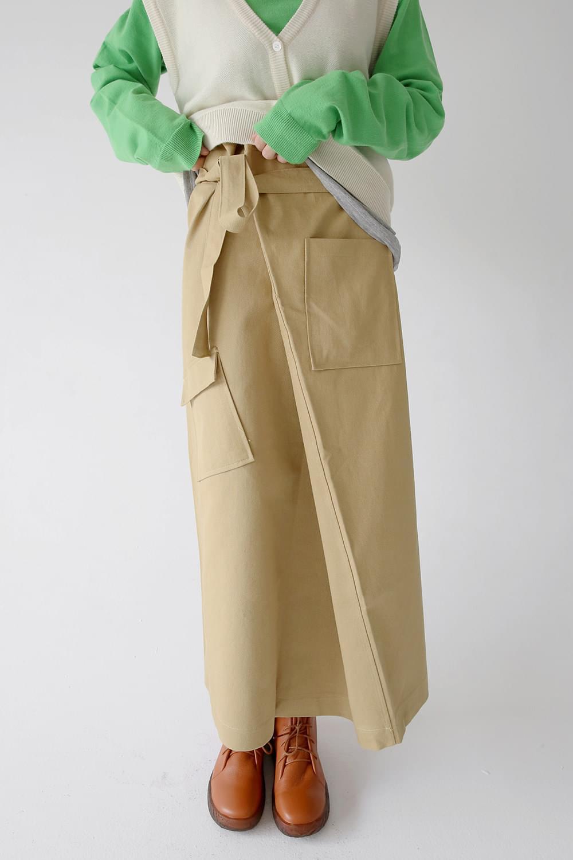 cutie outpocket wrap skirts (2colors)