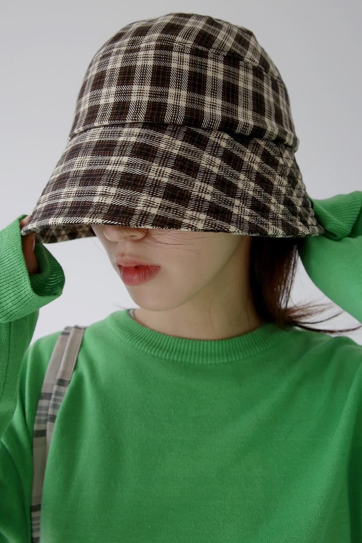 vintage gingham bucket hat (2colors)