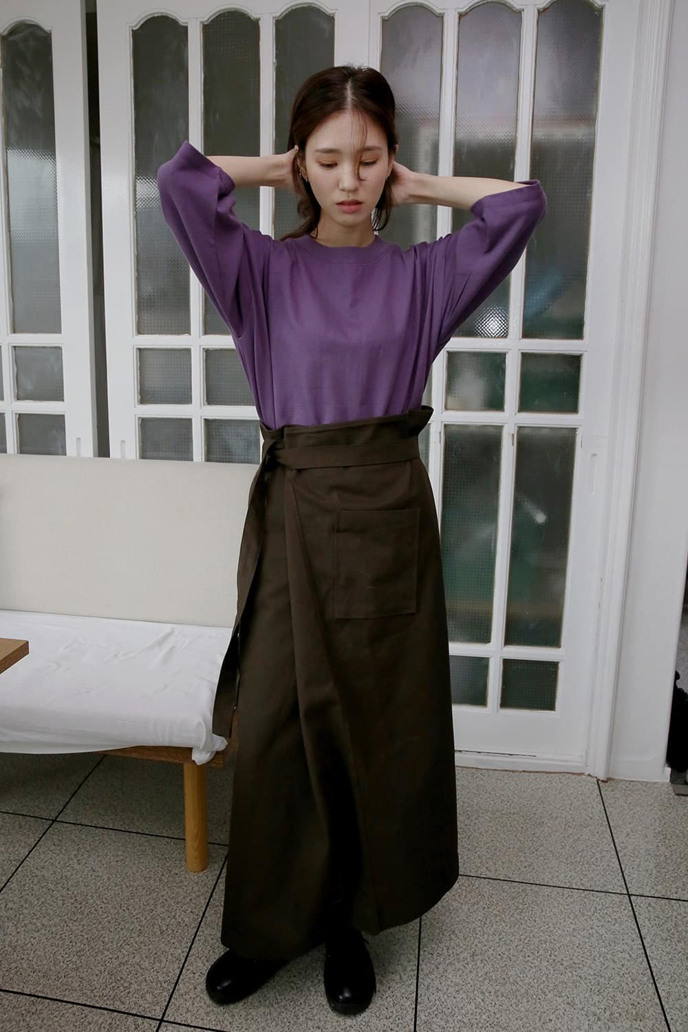 cutie outpocket wrap skirts (brown)