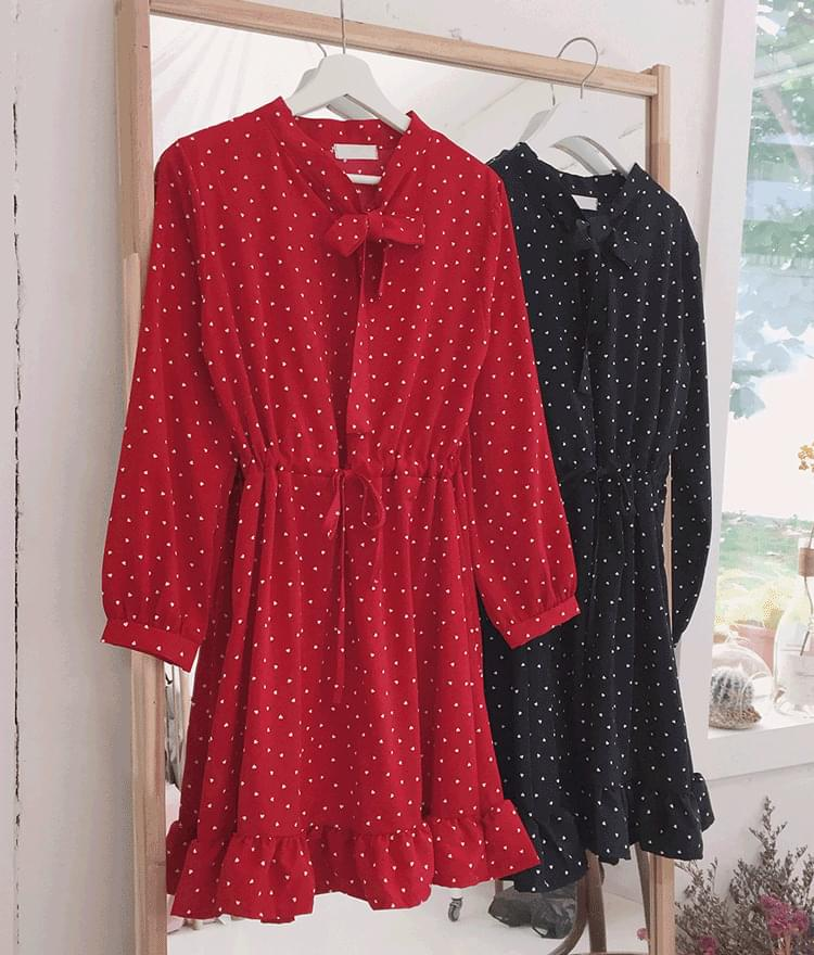 Lovely Heart Ruffle Dress