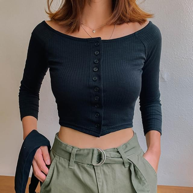 Cropped haute T-shirt & cardigan 開襟衫