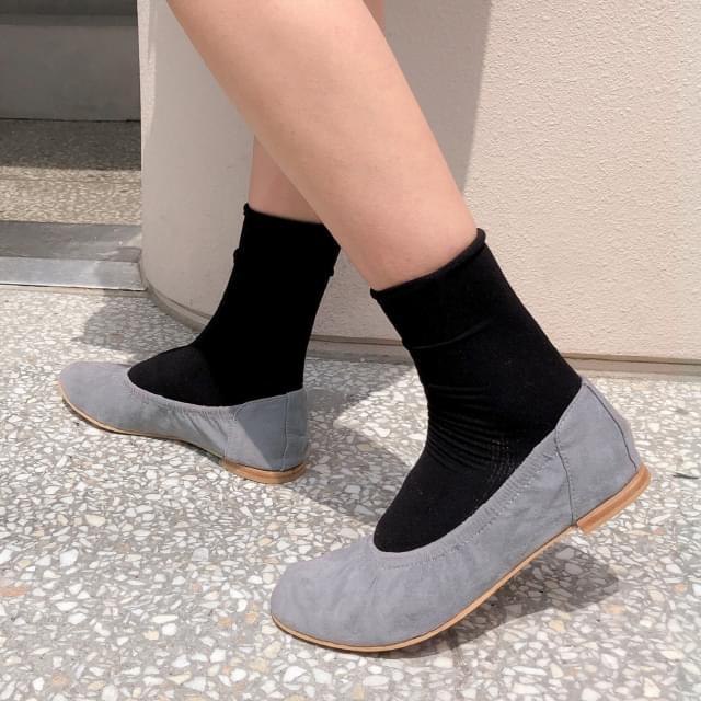 shirring banding flat shoes