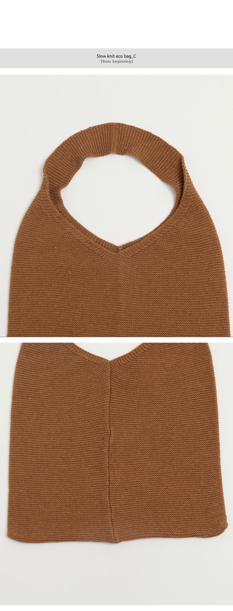 Slow knit eco bag_C