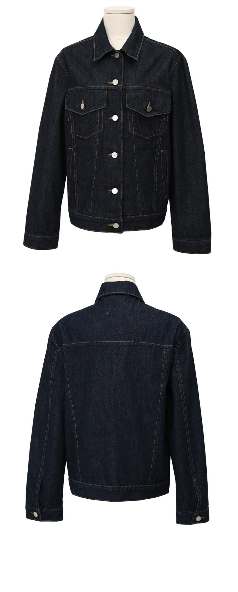 Again denim stitch jacket_C