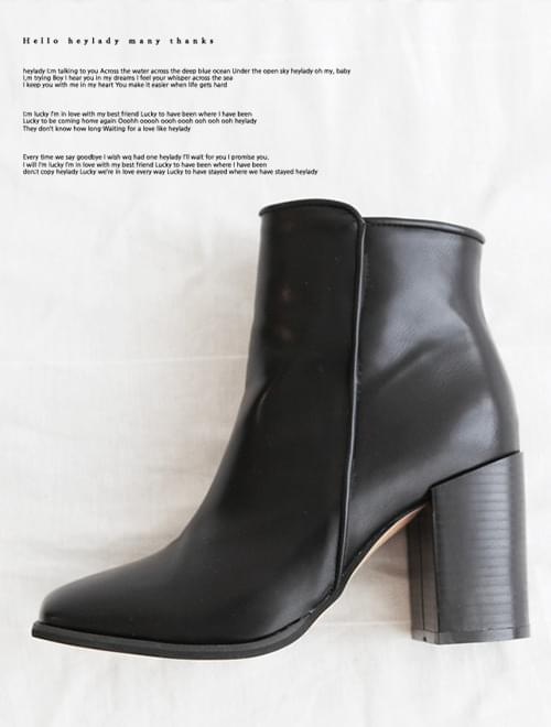 square ankle boots -2colors