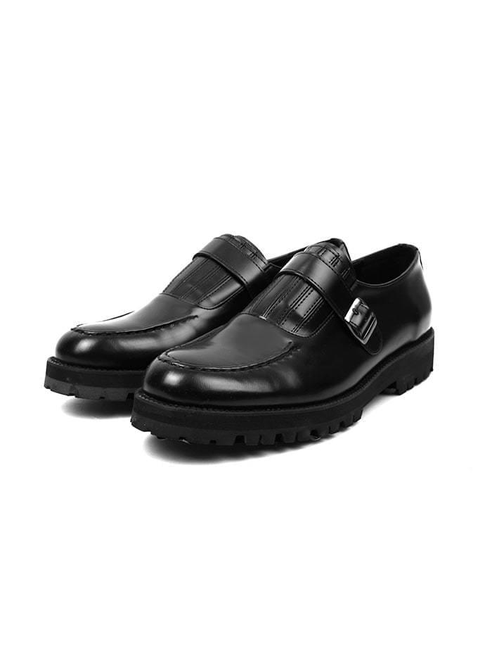 leather monk strap loafer - men