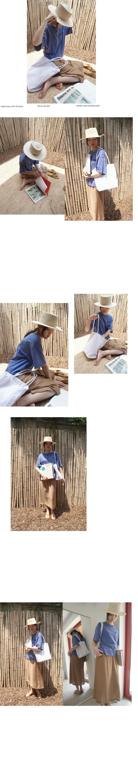 flimsy slit skirt (3colors)