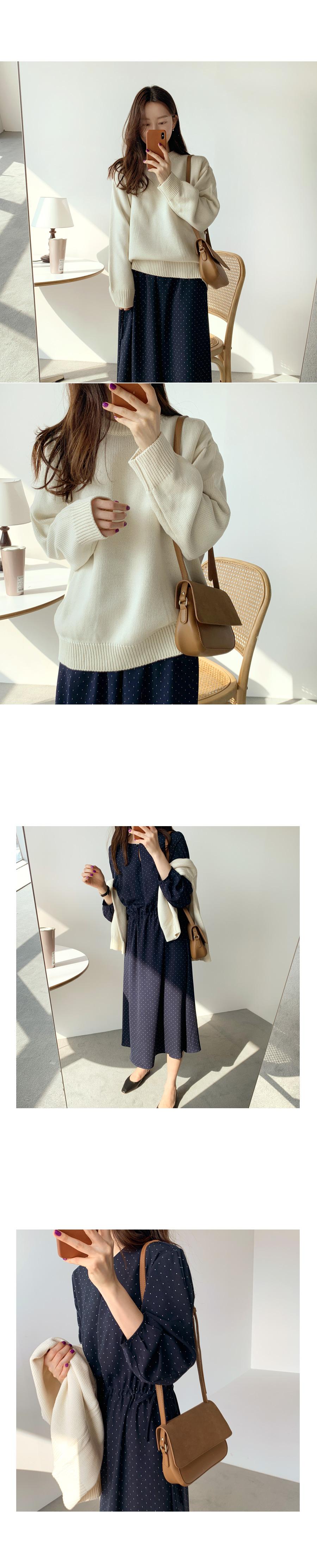 Boxy round knit