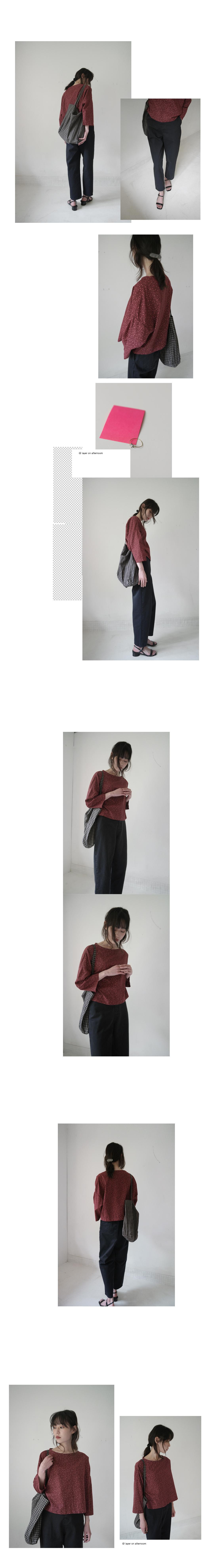 cropped boxy blouse (flower scarlet)