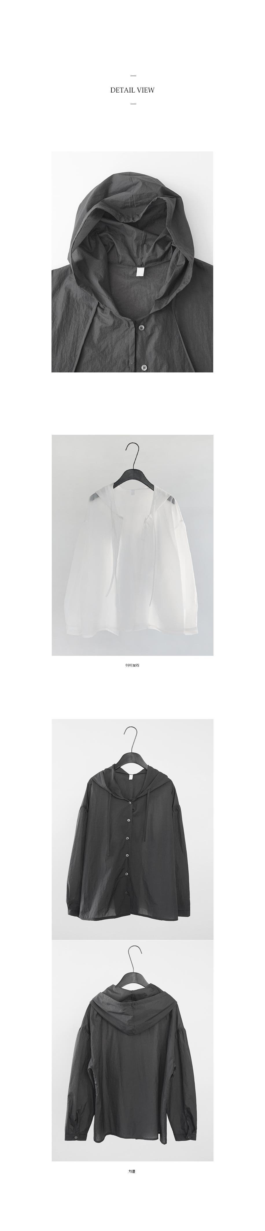crispy texture hoodie blouse (2colors)