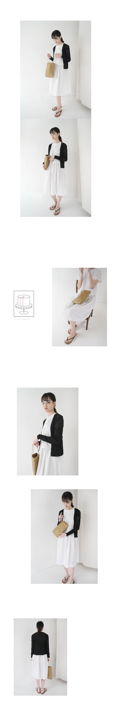 slim fit V-neck cardigan (4colors)