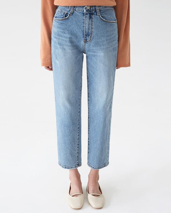 mone light denim pants