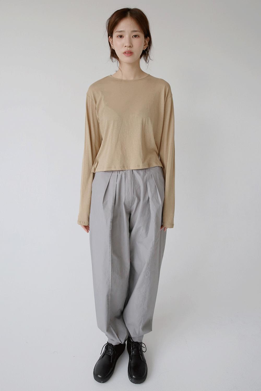maxi boy fit cotton pants (3colors)