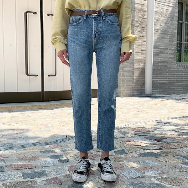 Cutting Straight Denim Pants