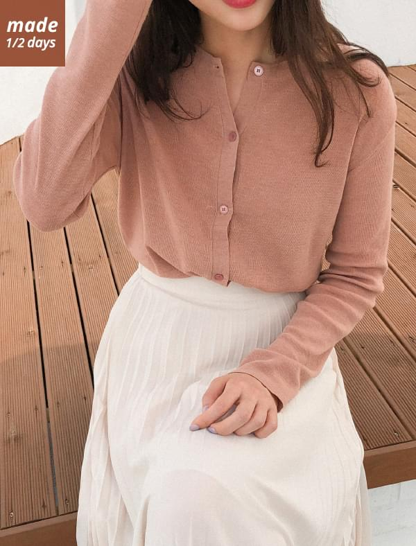1/2 day cardigan # 315 round neck basic button cardigan 44 tea / arrival # 2,500 pieces of cumulative sale