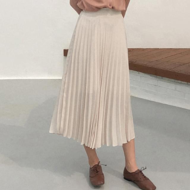 A-line banding pleats skirt