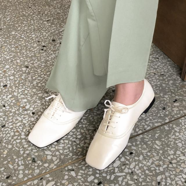 unique square line loafer 樂福鞋