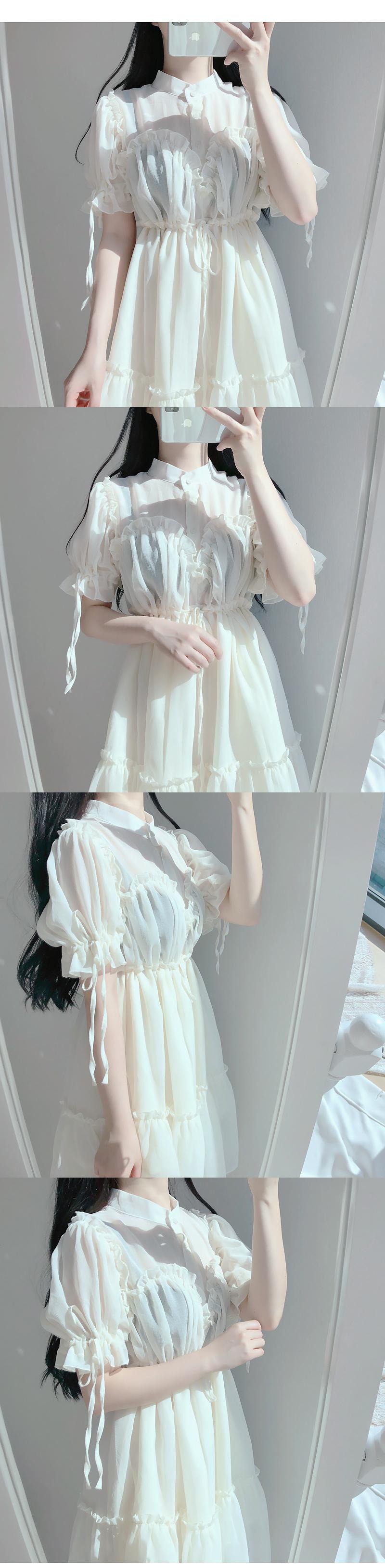 Angel frilly dress