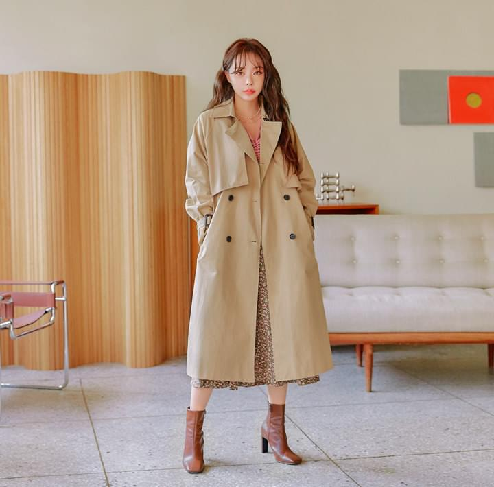 FLOYD DOUBLE BELT TRENCH COAT