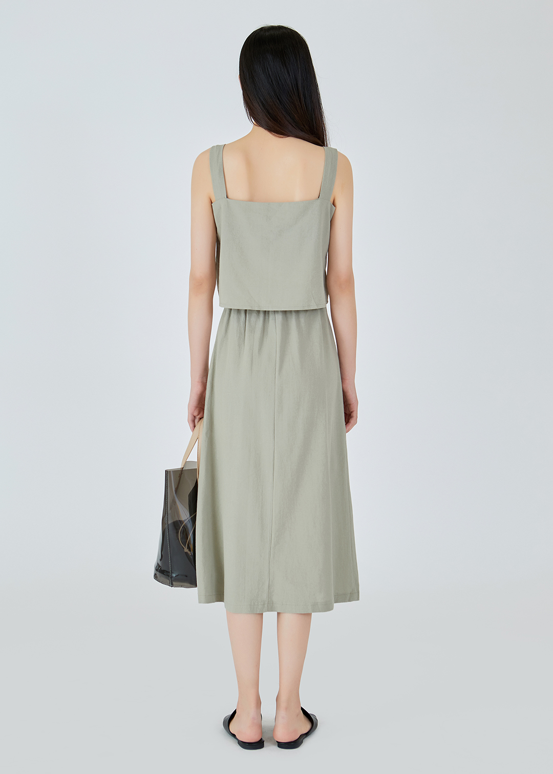 Natural Sleeveless-Skirt SET