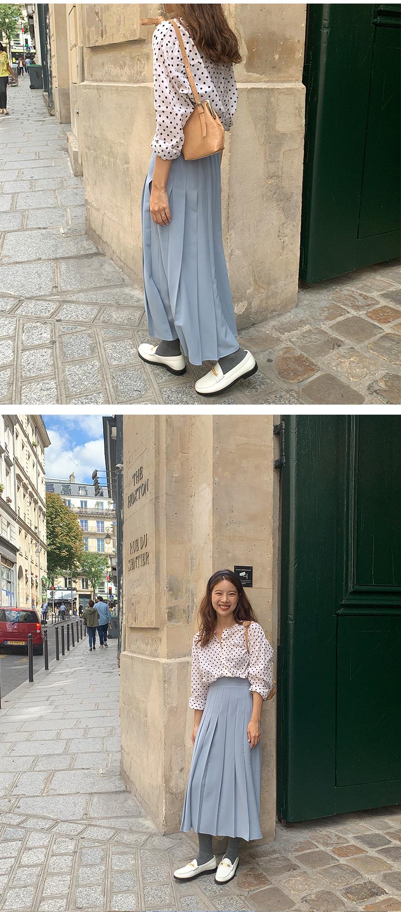 Vivier pleats long skirt