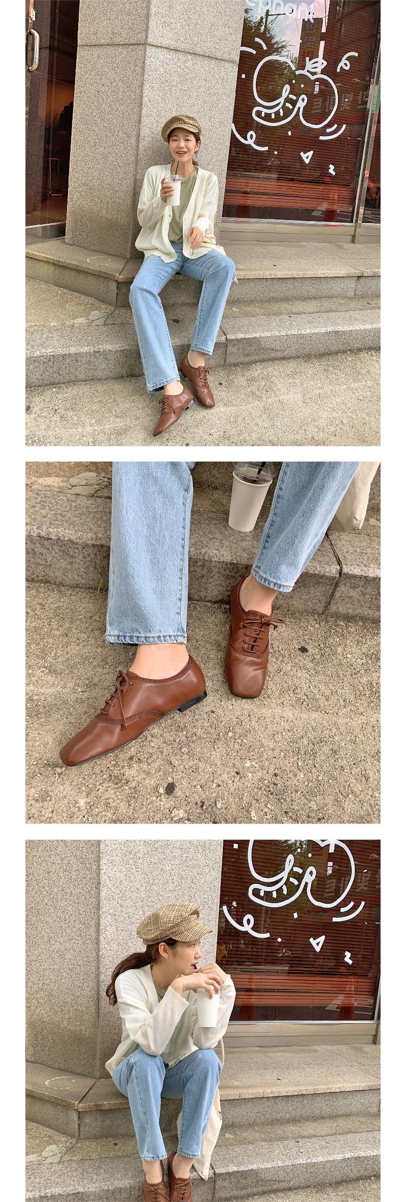 Glove stitch plat loafer_J