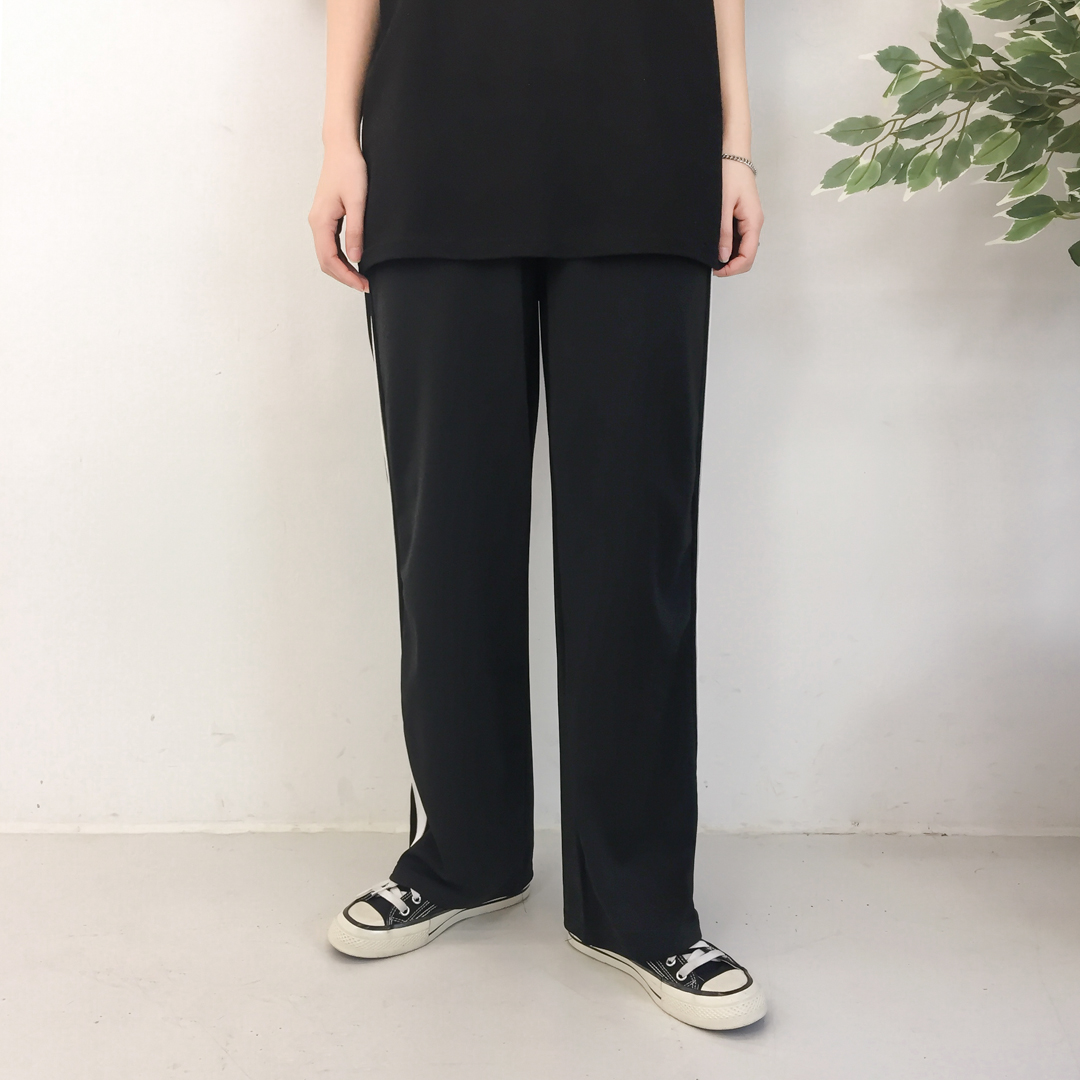 Line Tape Wide Pants