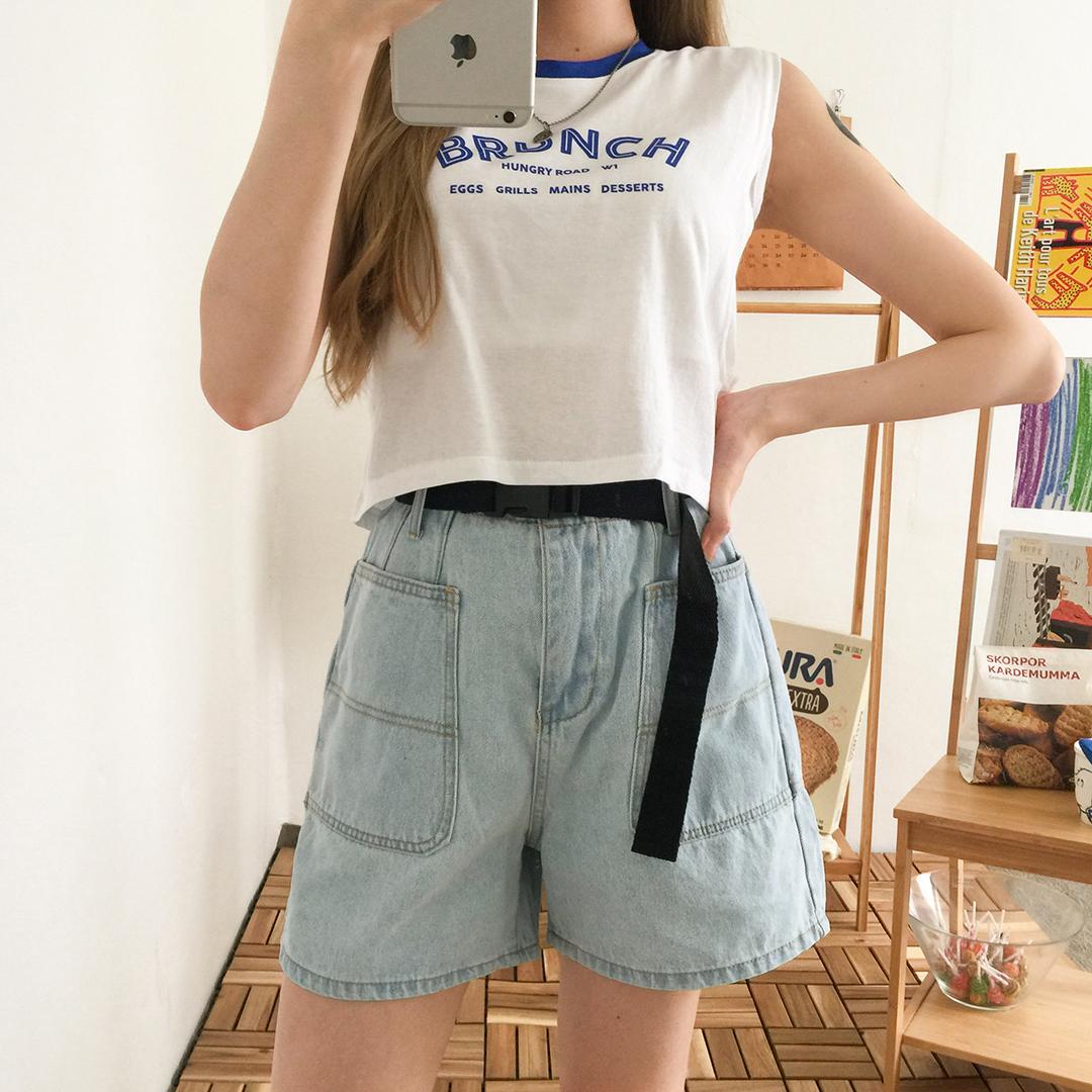 Chichi belt short pants