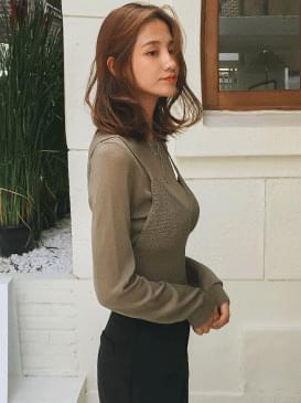 韓國空運 - See Through Best & Knit 針織衫