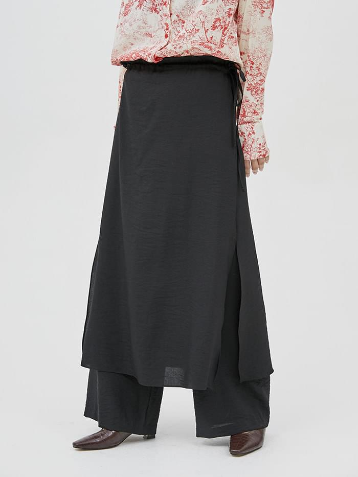 double skirt pants - woman