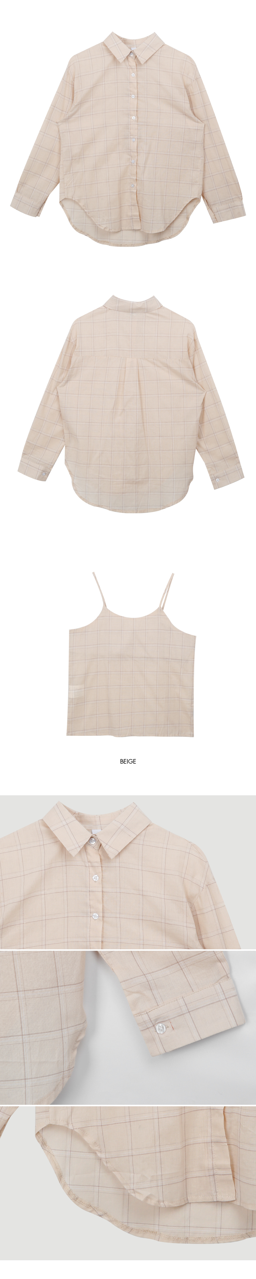 Daily check shirt set