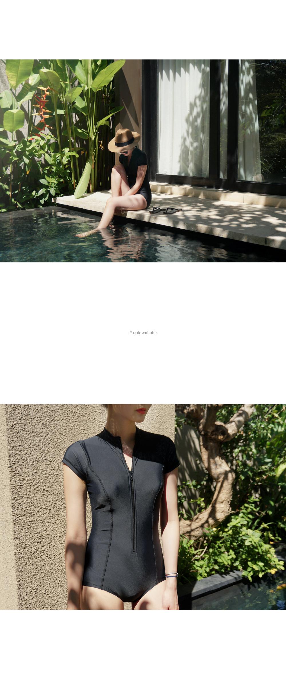 Modern black bikini