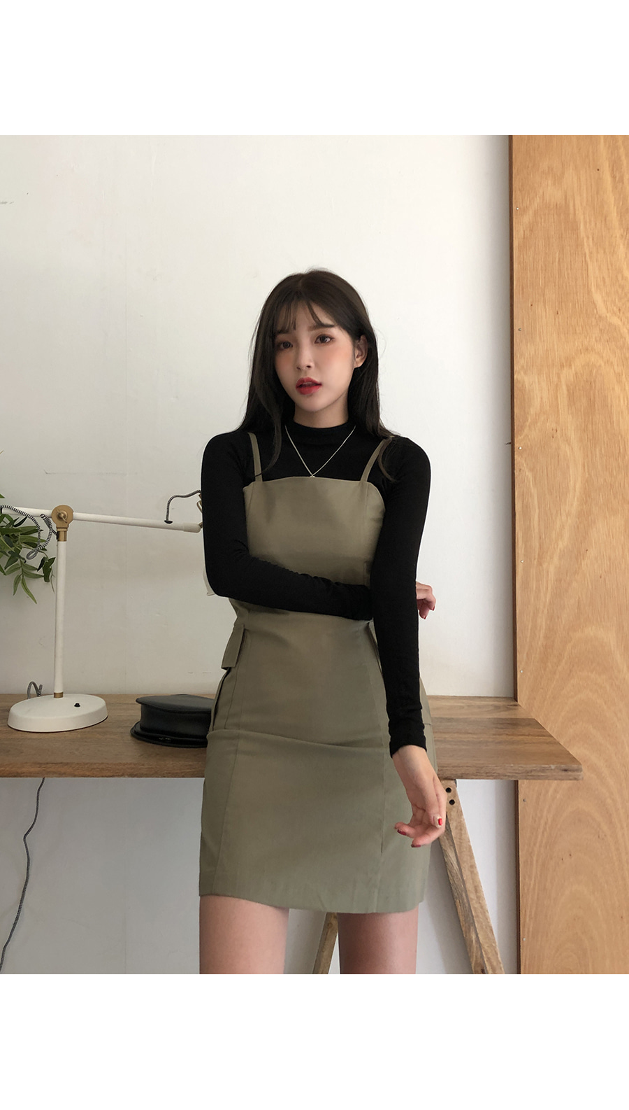 Pocket simple strap dress