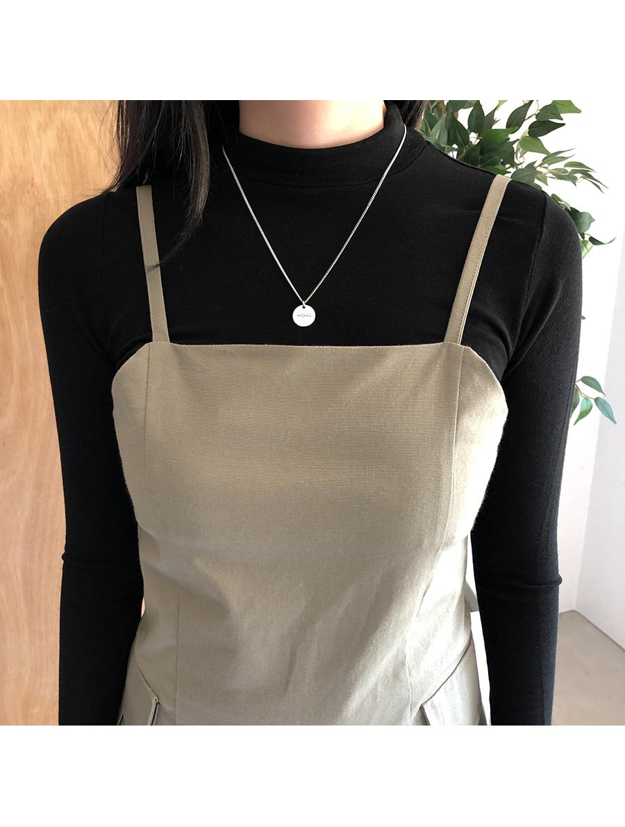 Pocket simple strap dress