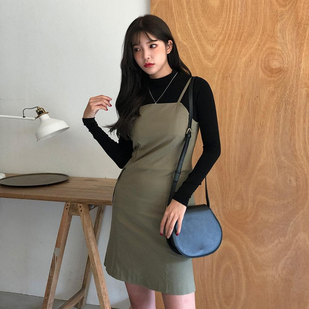 Pocket simple strap dress dresses