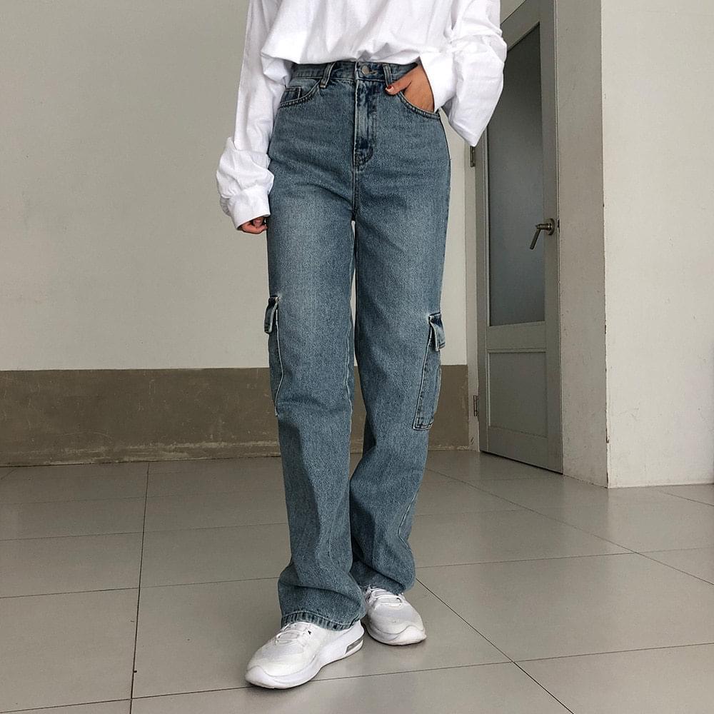 Vintage cargo denim pants