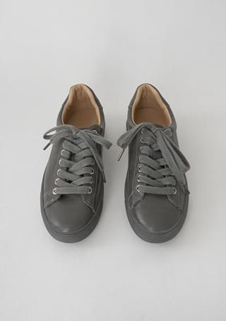 tidy color leather sneakers